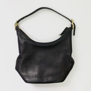 VINTAGE Black Coach Slouchy Shoulder Bag